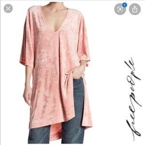 Free People Passion flower tee shirt tunic blouse
